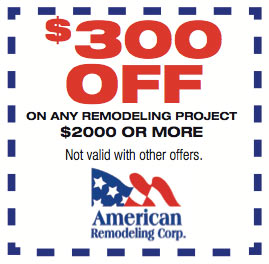 $300 Off on any remodeling project $2000 or More